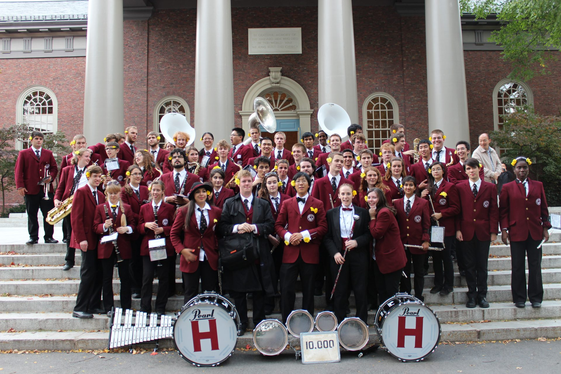 Harvard Band on Steps